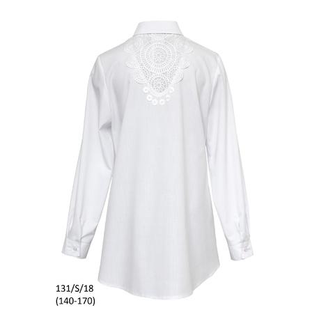 Bluzka Biała Szkolna Dziewczęca,wizytowa,galowa 131/S/18,SLY,sklep