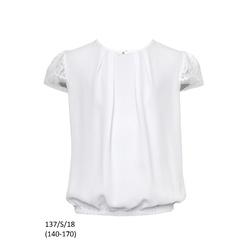 Bluzka Biała dla dziewczynki,wizytowa, 137/S/18,SLY,galowa