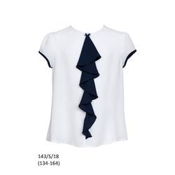 Biała bluzka z żabocikiem SLY 143/S/18