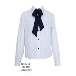 Biała bluzka szkolna,wizytowa,galowa, 104/S/18, ubranka wizytowe