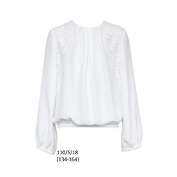 Biała bluzka galowa dziewczęca 110/S/18