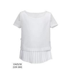 Biała bluzka szkolna, wizytowa 134/S/18