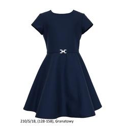 Sukienka dziewczęca szkolna,wizytowa 210/S/18, granatowa, ubranka wizytowe, sklep