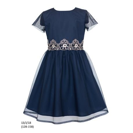 Sukienka dziewczęca 13/J/18 okolicznościowa,wizytowa,weselna, świąteczna,SLY