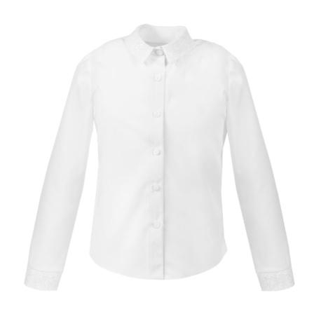 Bluzka Marika długi rękaw,biała bluzka, dla dziewczynki