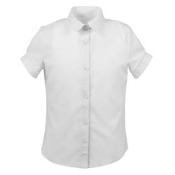 Bluzka Marika krótki rękaw,do szkoły,biała, dla dziewcynki