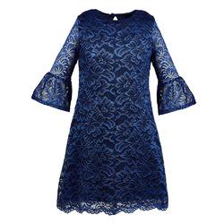 Sukienka Harriet - Granatowa, szkolna,koronkowa,okolicznościowa,na święta