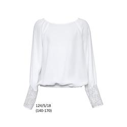 Bluzka Biała 124/S/18 Szkolna Dziewczęca,wizytowa,okolicznościowa