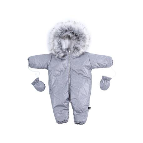 KOMBINEZON NIEMOWLĘCY SZARY MIŚ, na zimę, ubranko