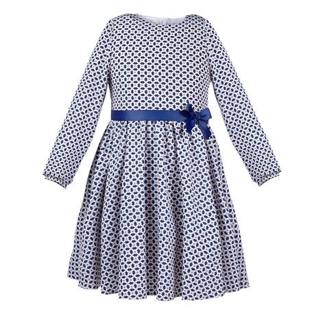 Sukienka Kalinka, dla dziewczynki,z kokardką,do szkoły