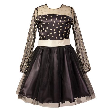 Sukienka Eulalia, sukienka z długim rękawem, dla dziewczynki, tiul,atłas