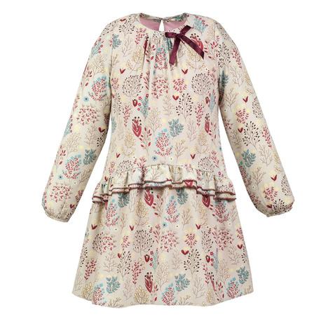 Sukienka Gardenia w stylu boho dla dziewczynki, z falbanką
