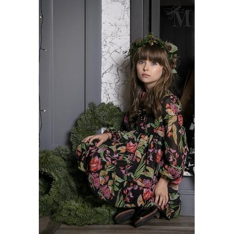 Sukienka 1711 dziewczęca wizytowa Mała Mi, kwiatowa,zwiewna,sklep internetowy