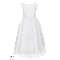 f9fe0ec966 Elegancka sukienka dla dziewczynki Biała 2 SM 19