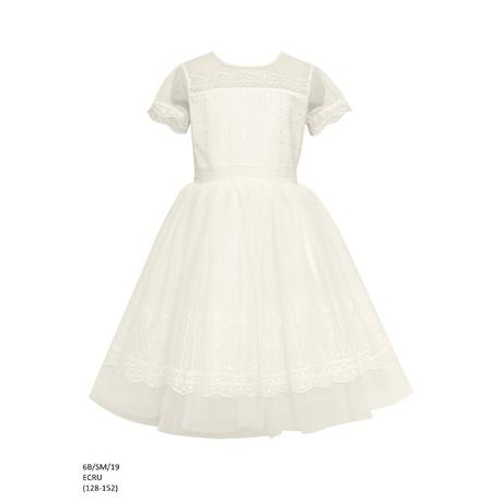 84078ca3af Sukienka dziewczęca elegancka Ecru 6B SM 19