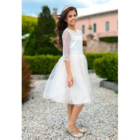 Sukienka dziewczęca na wesele Łososiowa 7C/SM/19, pokomunijna, na wesele, sklep