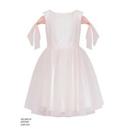 Wizytowa sukienka dla dziewczynki Różowa 10C/SM/19,na przebranie po komunii, tiulowa