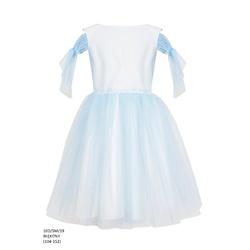 Wizytowa sukienka dla dziewczynki Błękitna 10D/SM/19,pokomunijna, weselna, sklep dziecięcy