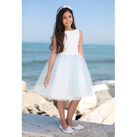 Sukienka dziewczęca elegancka Błękitna 11D/SM/19,na przebranie, tiulowa, eleganckie ubranka dla dzieci