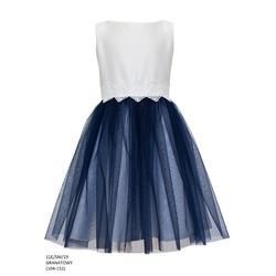 Sukienka dziewczęca elegancka Granatowa 11E/SM/19