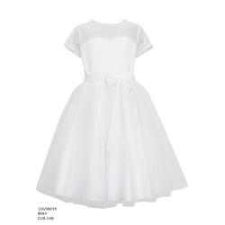 Tiulowa sukienka dla dziewczynki Biała 12A/SM/19