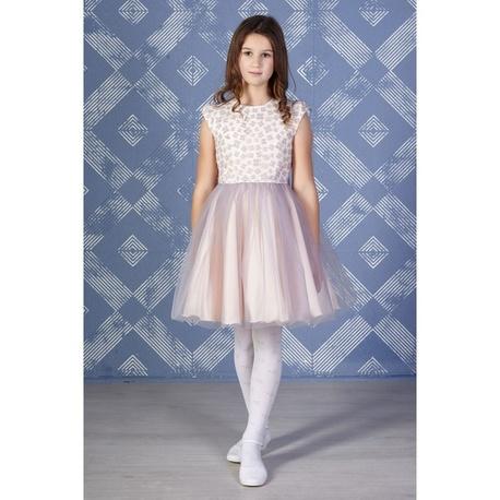 e4ea8de501 Tiulowa sukienka dla dziewczynki Otylia szara