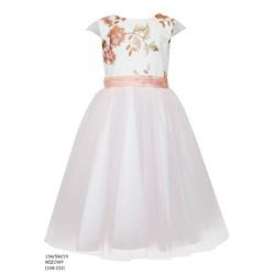 Sukienka z tiulem dla dziewczynki Różowa 13A/SM/19