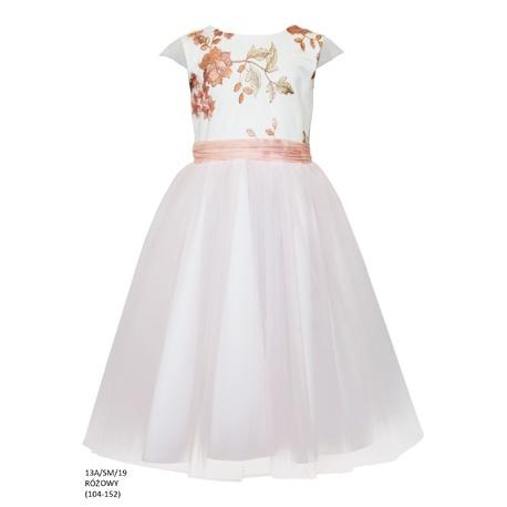09109bf272 Sukienka z tiulem dla dziewczynki Różowa 13A SM 19