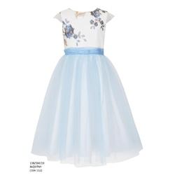 Sukienka z tiulem dla dziewczynki Błękitna 13B/SM/19