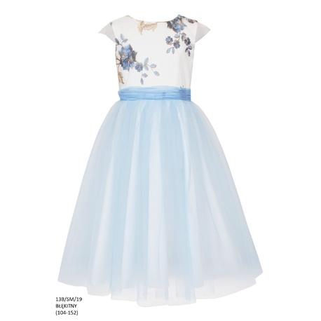 8d2a5264f5 Sukienka z tiulem dla dziewczynki Błękitna 13B SM 19