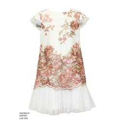 Sukienka pokomunjna koronkowa Różowa 14A/SM/19