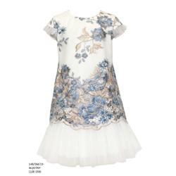Sukienka pokomunjna koronkowa Błękitna 14B/SM/19
