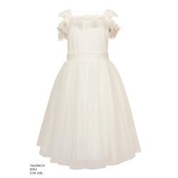 Sukienka tiulowa rozkloszowana Ecru 15A/SM/19