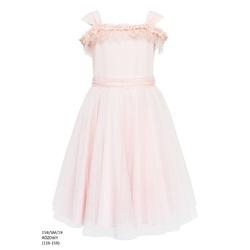 Sukienka tiulowa rozkloszowana Różowa 15B/SM/19