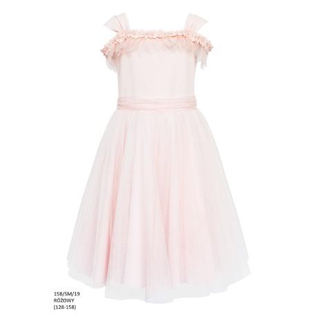 f67b131ebf Sukienka tiulowa rozkloszowana Różowa 15B SM 19