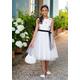 Elegancka sukienka dla dziewczynki 16B/SM/19,dla dzieci,komunijna,balowa,z tiulem