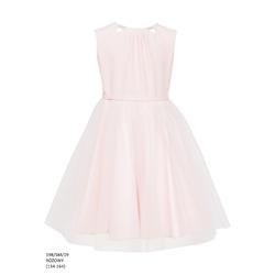 Sukienka z tiulowym dołem Różowa 19B/SM/19, na komunię, na wesele,sklep