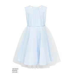Sukienka z tiulowym dołem Błękitna 19C/SM/19