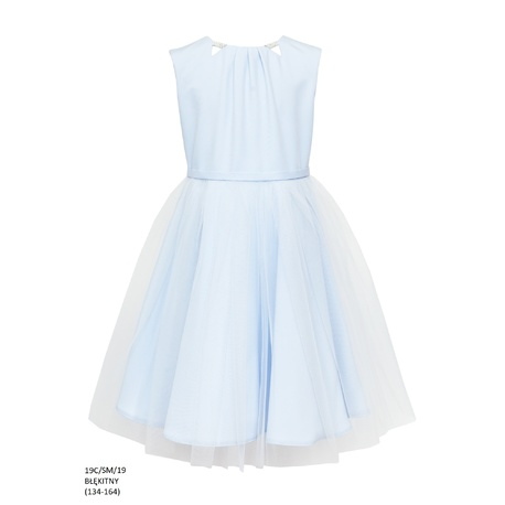 Sukienka z tiulowym dołem Błękitna 19C/SM/19,sukienka pokomunijna,sklep