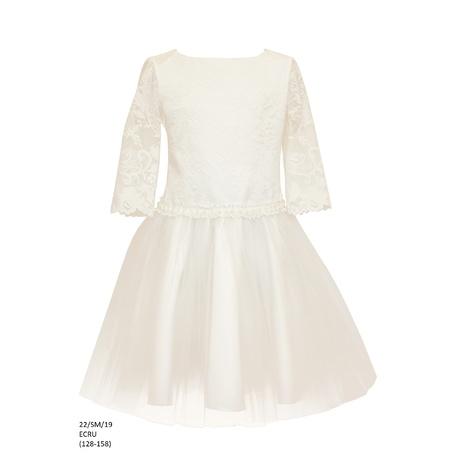 505b791306 Koronkowa sukienka dla dziewczynki Ecru 22 SM 19