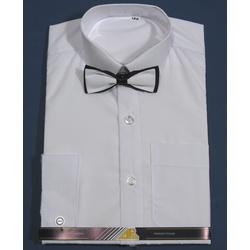 Biała koszula chłopięca z muszką długi rękaw