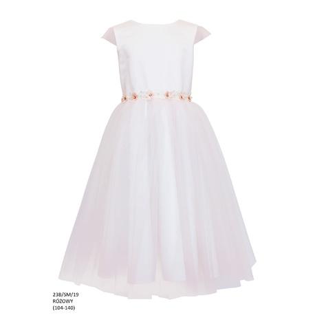 Sukienka tiulowa dla dziewczynki Róż 23B/SM/19 śliczna sukienka,ubranka dla dzieci