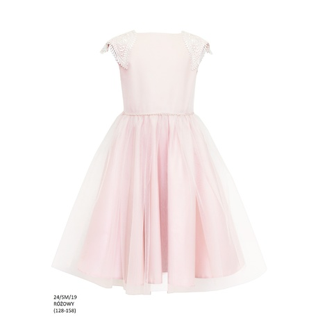 Pokomunijna sukienka dla dziewczynki Róż 24/SM/19,modne sukienki, sklep