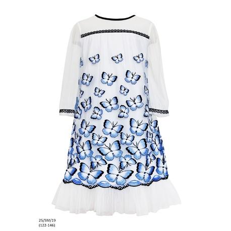 Sukienka pokomunijna w motyle 25/SM/19,odzież dziecięca,sukienki na wesele dla dziewczynki