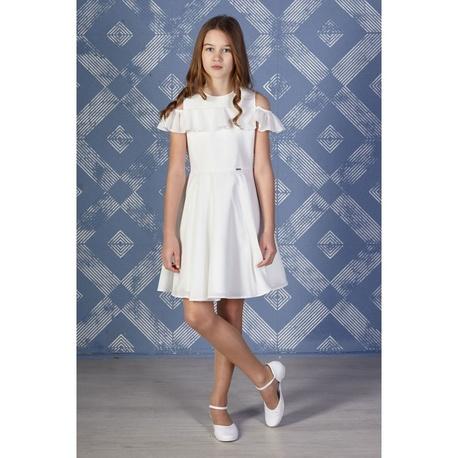 d82f12585a Elegancka sukienka dla dziewczynki Ecru Robin