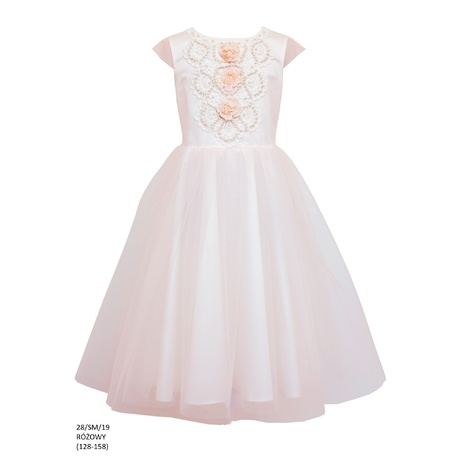 Sukienka tiulowa dla dziewczynek 28/SM/19,na komunię,modne sukienki,odzież dziecięca