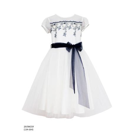 792b2ce22f3df3 Sukienka dziewczęca wizytowa 29/SM/19,na komunię,tiulowa,odzież dziecięca