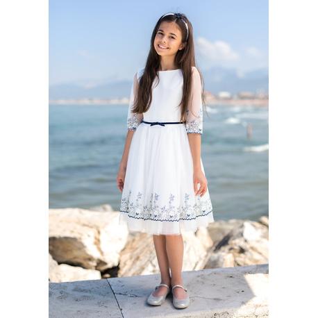 Sukienka dziewczęca, pokomunijna 30/SM/19,elegancka,wizytowa,koronkowa,sklep
