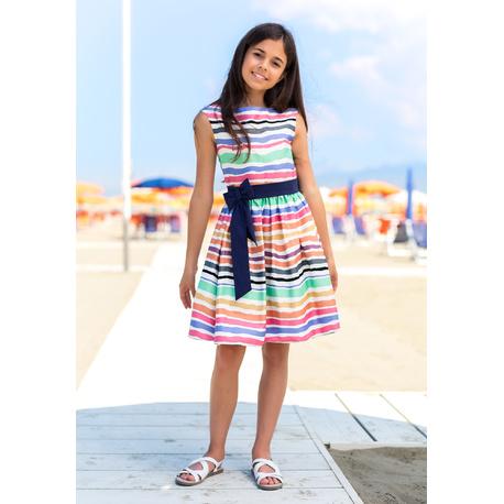 Śliczna sukienka w kolorowe pasy 45/SM/19,pokomunijna,na wesela,bawełniana,sklep