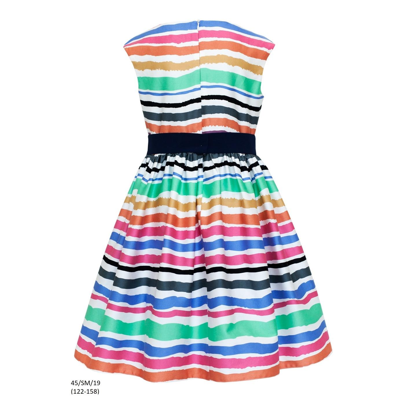 c4221ed889 ... Śliczna sukienka w kolorowe pasy 45 SM 19